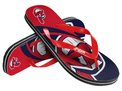 Cleveland Indians Forever Collectibles Big Logo Flip Flop 2015