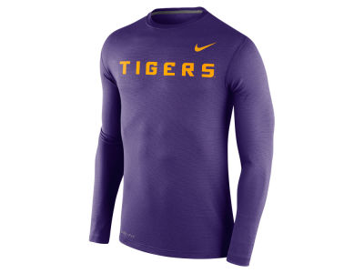 LSU Tigers Nike NCAA Men's Stadium Dri Fit Touch Long Sleeve T-Shirt