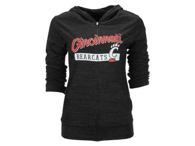Cincinnati Bearcats Blue 84 NCAA Women's Script Full Zip Hoodie