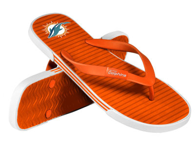 Miami Dolphins Athletic Slide Flip Flop