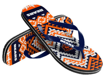 Chicago Bears Women's Aztec Flip Flops