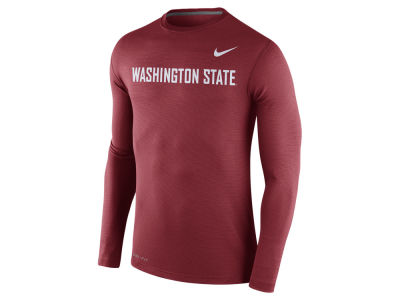 Washington State Cougars Nike NCAA Men's Stadium Dri Fit Touch Long Sleeve T-Shirt
