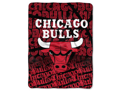 "Chicago Bulls Micro Raschel Throw 46x60 ""Redux"""