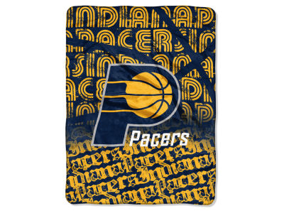 "Indiana Pacers Micro Raschel Throw 46x60 ""Redux"""