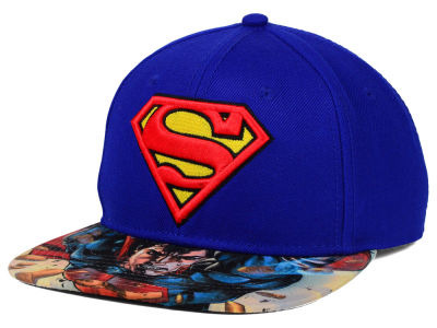 Superman Printed Visor Snapback Hat