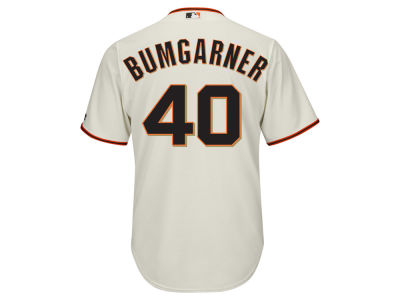 San Francisco Giants Madison Bumgarner Majestic MLB Men's Player Replica Cool Base Jersey