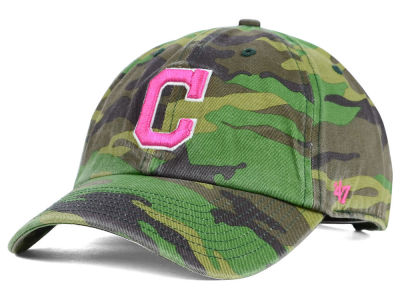 Cleveland Indians '47 MLB Womens Camo '47 Clean Up Cap
