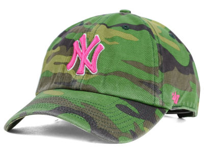 New York Yankees '47 MLB Womens Camo '47 Clean Up Cap