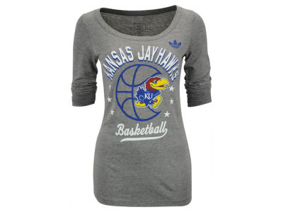 Kansas Jayhawks adidas NCAA Women's Middle Basketball Arch Long Sleeve T-Shirt