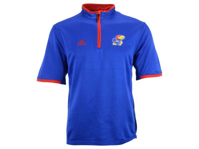Kansas Jayhawks adidas NCAA Men's 1/4 Zip Short Sleeve Knit Shirt