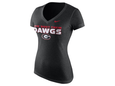 Georgia Bulldogs Nike NCAA Women's Local Mid V-Neck T-Shirt