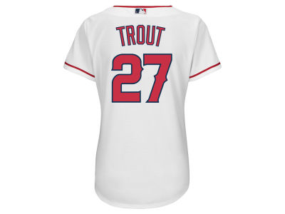 Los Angeles Angels Mike Trout Majestic MLB Women's Cool Base Player Replica Jersey