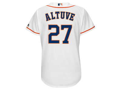 Houston Astros Jose Altuve Majestic MLB Women's Cool Base Player Replica Jersey