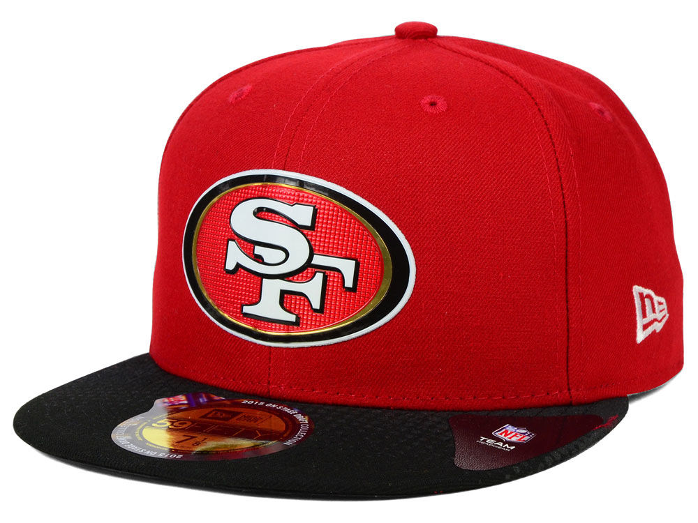 San Francisco 49ers New Era 2015 NFL Draft On Stage 59FIFTY Cap ... 0b25f006c