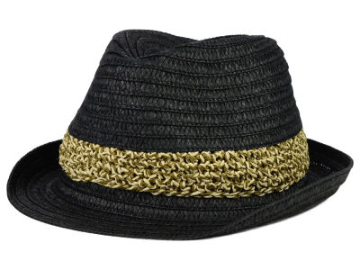 LIDS Private Label PL Braided Raffia Fedora w/ Marled Straw Band