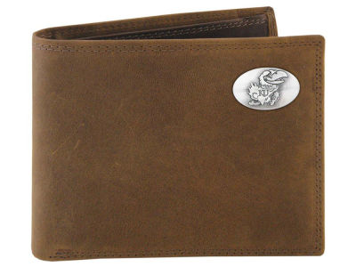 Kansas Jayhawks Crazyhorse Leather Bifold Wallet