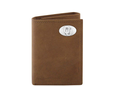 Oklahoma Sooners Crazyhorse Leather Trifold Wallet