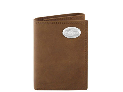 Oklahoma State Cowboys Crazyhorse Leather Trifold Wallet