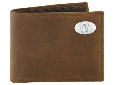 Oklahoma Sooners Crazyhorse Leather Bifold Wallet