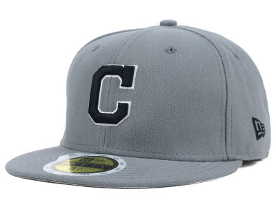 Cleveland Indians New Era MLB Youth Gray Black and White 59FIFTY