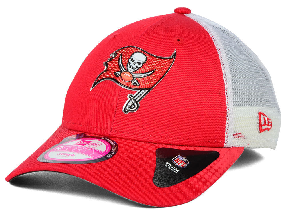 Tampa Bay Buccaneers New Era NFL 2015 Women s Draft 9FORTY Cap ... ee6dc66393d
