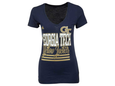 Georgia-Tech adidas NCAA Women's 3 Stripe Stack T-Shirt