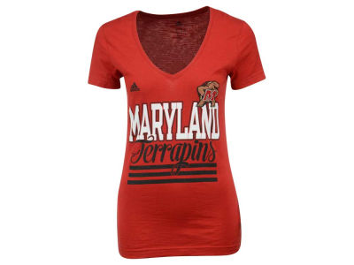 Maryland Terrapins adidas NCAA Women's 3 Stripe Stack T-Shirt