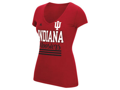 Indiana Hoosiers adidas NCAA Women's 3 Stripe Stack T-Shirt