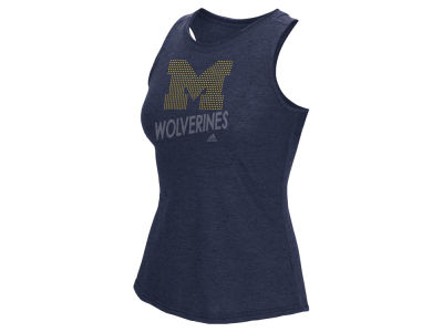 Michigan Wolverines adidas NCAA Women's Rhinestone Repeat Tank