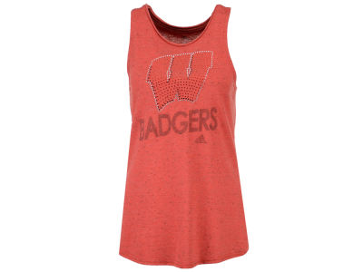 Wisconsin Badgers adidas NCAA Women's Rhinestone Repeat Tank