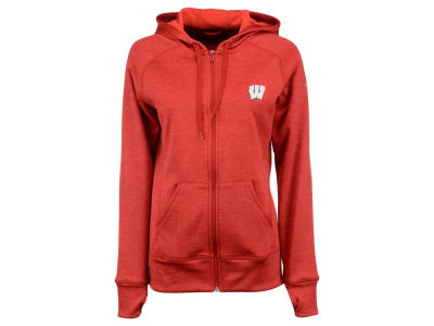 Wisconsin Badgers adidas NCAA Women's Primary Logo Full Zip Hoodie