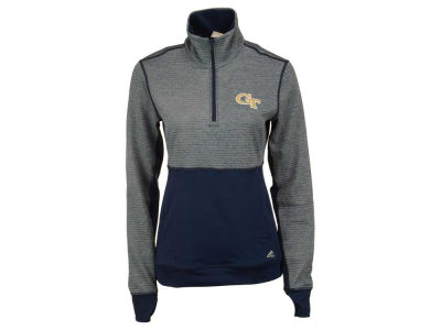 Georgia-Tech adidas NCAA Women's Logo Driven 1/4 Zip Pullover Shirt