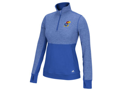 Kansas Jayhawks adidas NCAA Women's Logo Driven 1/4 Zip Pullover Shirt