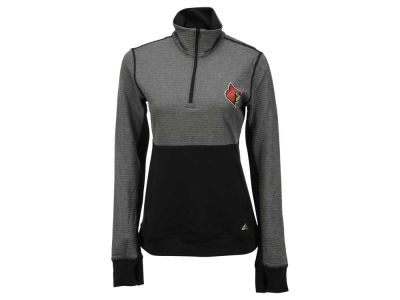 Louisville Cardinals adidas NCAA Women's Logo Driven 1/4 Zip Pullover Shirt