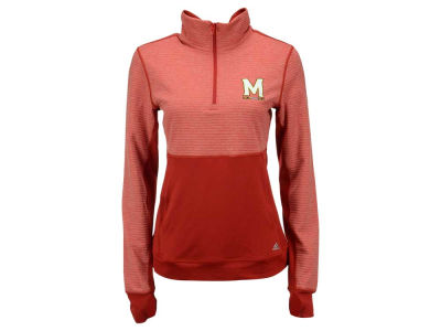 Maryland Terrapins adidas NCAA Women's Logo Driven 1/4 Zip Pullover Shirt