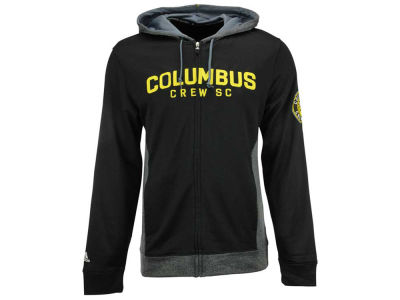 Columbus Crew SC adidas MLS Men's Poly Full Zip Hoodie