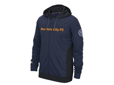 New York City FC adidas MLS Men's Poly Full Zip Hoodie