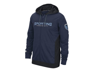 Sporting Kansas City adidas MLS Men's Poly Full Zip Hoodie