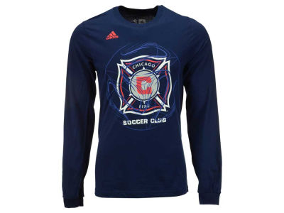 Chicago Fire adidas MLS Men's Prime Time II Long Sleeve T-Shirt