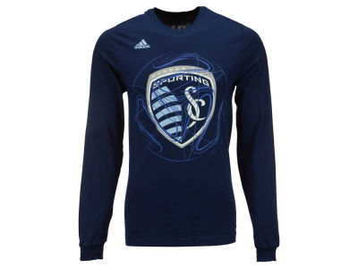 Sporting Kansas City adidas MLS Men's Prime Time II Long Sleeve T-Shirt
