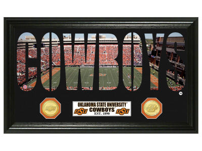 Oklahoma State Cowboys Bronze Coin Photo Word Art