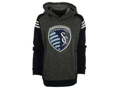 Sporting Kansas City MLS Youth 3 Stripe Shoulder Hoodie
