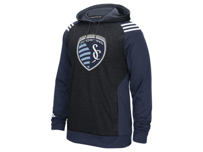 Sporting Kansas City adidas MLS Men's 3 Stripe Hoodie