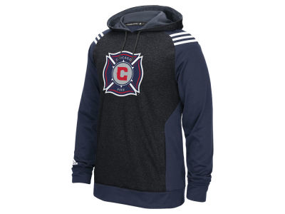 Chicago Fire adidas MLS Men's 3 Stripe Hoodie