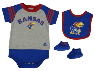 Kansas Jayhawks NCAA Newborn Little Kicker Set