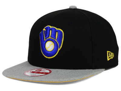 Milwaukee Brewers New Era MLB Logo Refresh 9FIFTY Snapback Cap