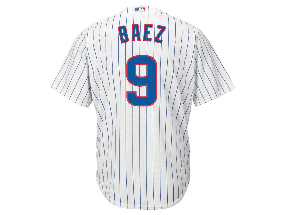 31256e1fe Chicago Cubs Javier Baez Majestic MLB Men s Player Replica Cool Base Jersey