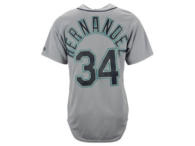 Seattle Mariners Felix Hernandez Majestic MLB Men's Player Replica CB Jersey