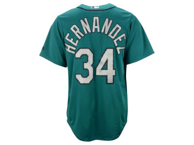 Seattle Mariners Félix Hernández Majestic MLB Men's Player Replica CB Jersey