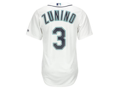 Seattle Mariners Mike Zunino Majestic MLB Men's Player Replica Cool Base Jersey